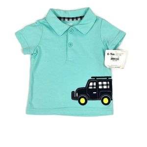 NWT Collared Short Sleeved Tee 6-9m